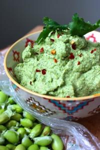 Oil-Free Edamame Hummus 1