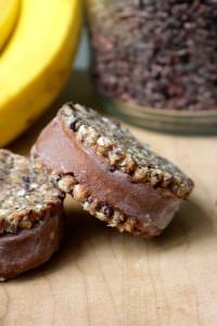 Vegan Oatmeal Cookie Banana Ice Cream Sandwiches