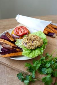 Cilantro Chickpea Veggie Burger 1