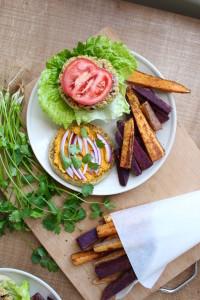 Cilantro Chickpea Veggie Burger 3