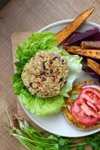 Cilantro Chickpea Veggie Burger 4