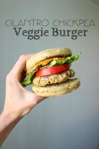 Cilantro Chickpea Veggie Burger collage
