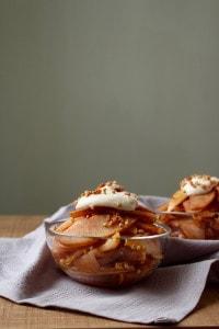 Cinnamon Pears with Maple Vanilla Cashew Cream 2
