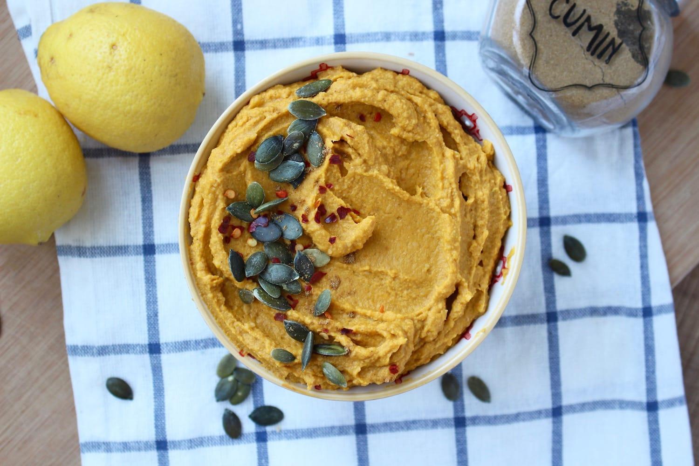 Pumpkin Hummus from above