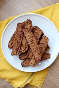 Vegan Pumpkin Chocolate Chip Biscotti 1
