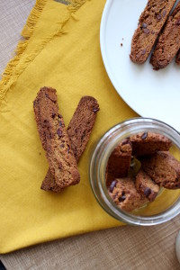 Vegan Pumpkin Chocolate Chip Biscotti 2