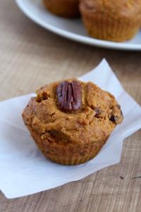 Vegan Pumpkin Pecan Muffins 1