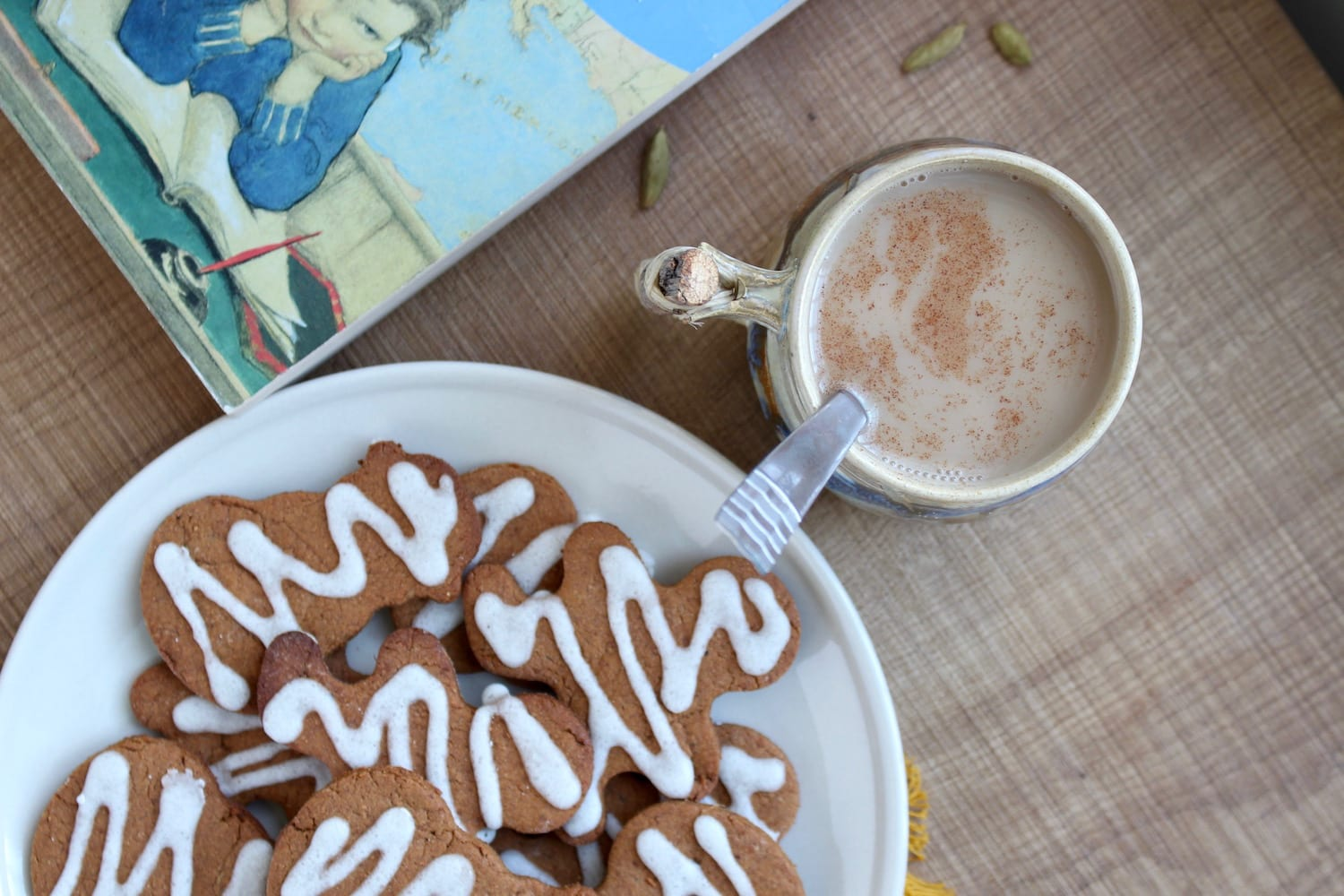 Dairy-Free Indian Chai  with vegan cookies