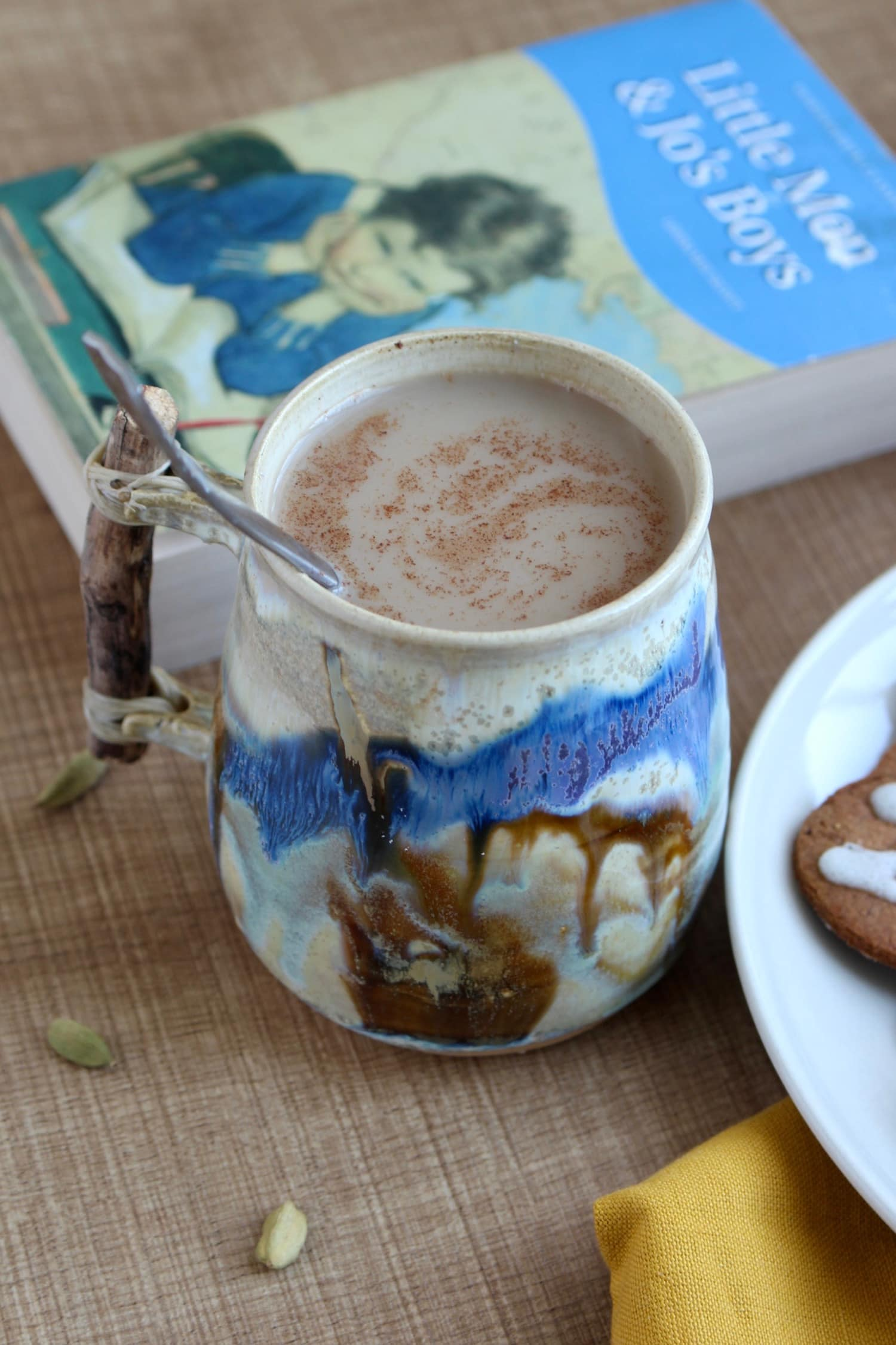 Dairy-Free Indian Chai on the kitchen table