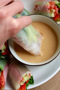 Homemade Spring Rolls with Low-Fat Peanut Sauce 2