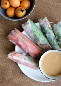 Homemade Spring Rolls with Low-Fat Peanut Sauce 4