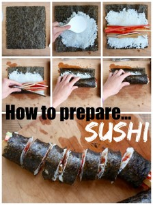 How to prepare sushi Collage