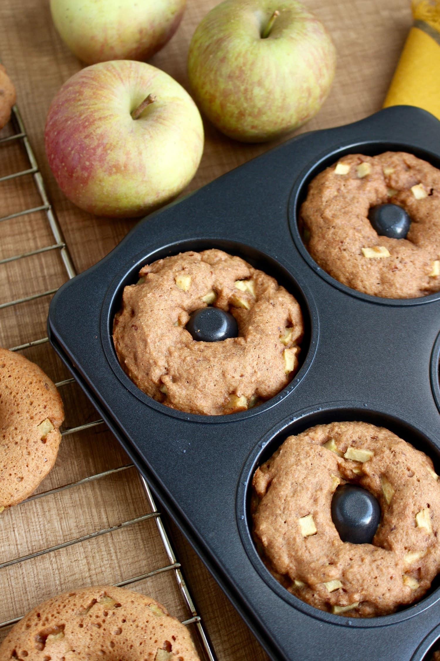Vegan Apple Doughnuts Recipe — Dishmaps