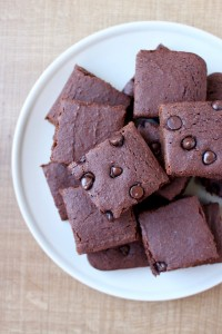 Vegan Okara (Soy Milk Pulp) Brownies on a plate
