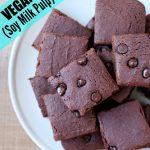 Vegan okara Brownies on a plate