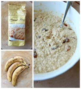 Healthy Vegan Peanut Butter and Banana Baked Oatmeal Collage