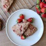 Vegan Strawberries and Cream Scones