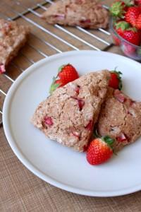 Vegan Strawberries and Cream Scones 4
