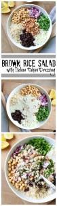 Brown Rice Salad Collage