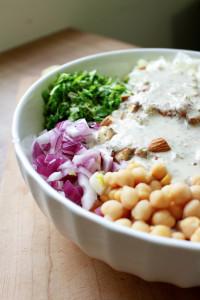 Brown Rice Salad with Italian Tahini Dressing 2