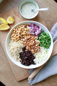 Brown Rice Salad with Italian Tahini Dressing 7
