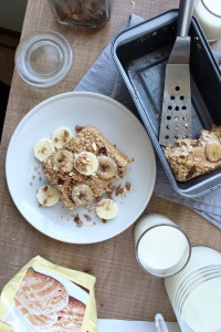 Healthy Peanut Butter and Banana Baked Oatmeal