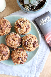 Toasted Coconut Chocolate Chunk Vegan Muffins 6