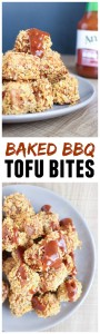 Baked BBQ Tofu Bites Collage