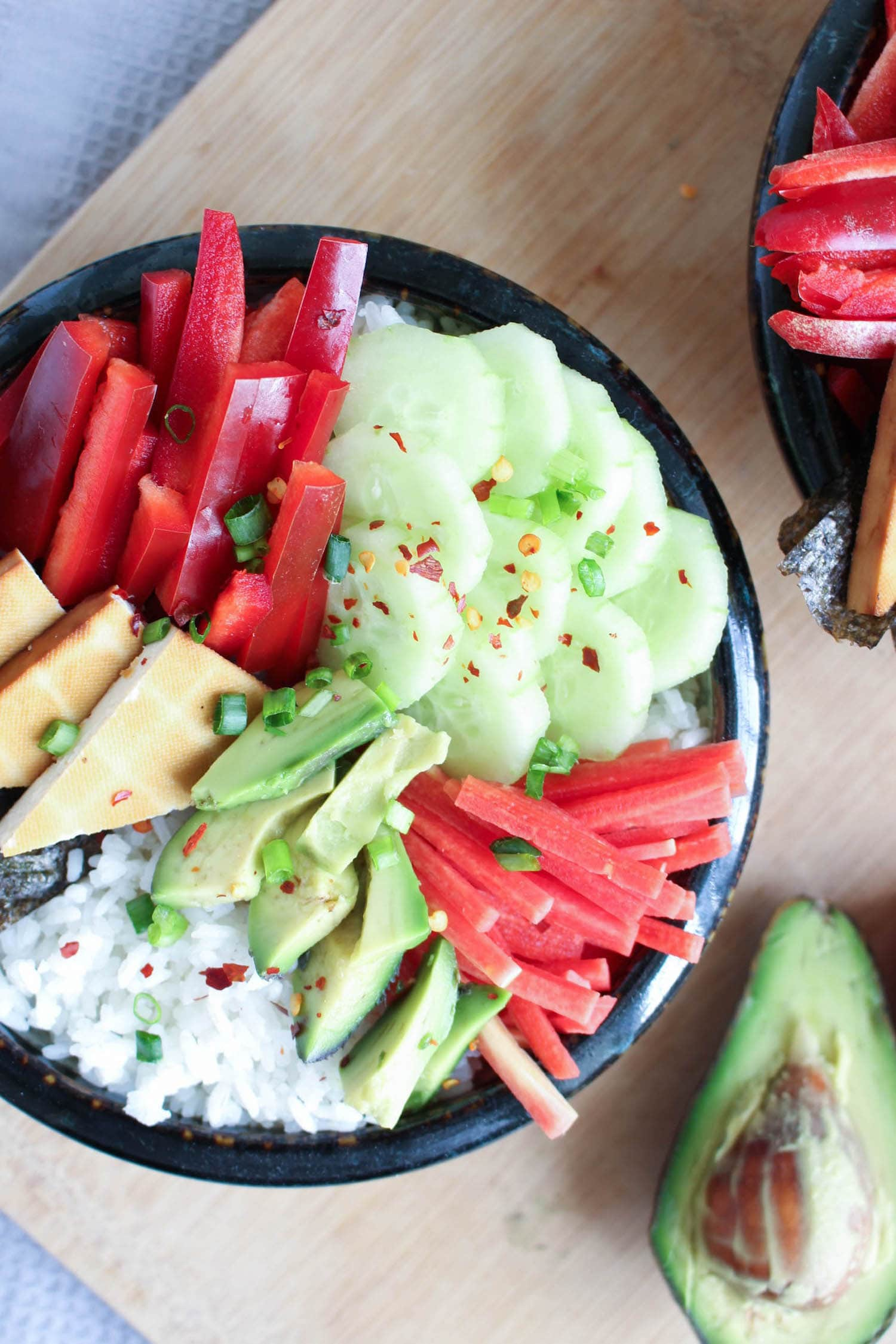 Deconstructed Vegan Sushi Bowl | The Conscientious Eater