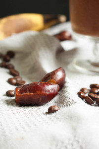 dates and coffee beans