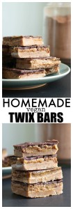 Homemade Vegan Twix Bars Pinterest Collage