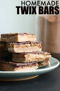 Homemade Vegan Twix Pinterest Collage Bars-3