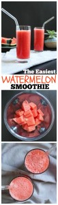 The Easiest Watermelon Smoothie PicMonkey Collage