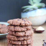 Vegan Double Chocolate Tahini Cookies