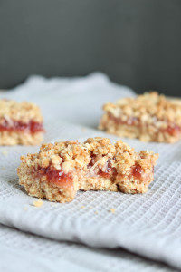 Vegan Strawberry Jam Oatmeal Bars