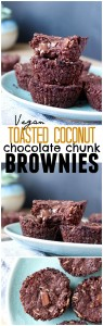Vegan Toasted Coconut Choclate Chunk Brownies Collage