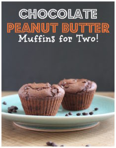 Chocolate Peanut Butter Muffins for Two Pinterest