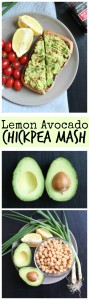 Lemon Avocado Chickpea Mash