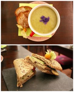 Soup and Sandwich Vegan Zurich Switzerland Collage