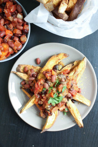 Vegan Chili Loaded Sweet Potato Fries-9