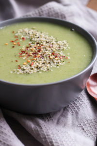 THE EASIEST Dairy Free Broccoli Potato Cauliflower Soup! This flavorful, warming soup is chalk full of nutrients and couldn't be easier to make. Vegan, Gluten free, Dairy free and healthy!!-5