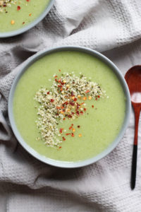 THE EASIEST Dairy Free Broccoli Potato Cauliflower Soup! This flavorful, warming soup is chalk full of nutrients and couldn't be easier to make. Vegan, Gluten free, Dairy free and healthy!!-6