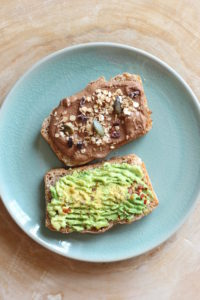 WIAW Home Alone Avocado Toast and Chocolate PB Toast