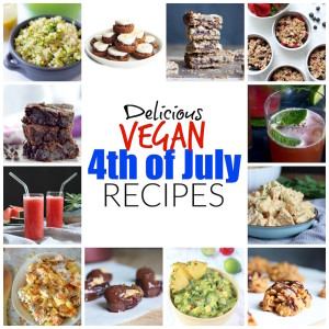 Delicious Vegan 4th of July Recipes! If you're looking for recipe inspiration this Independence day, look no further. There are tons of Delicious Vegan 4th of July Recipes for you to make this summer that will blow your friends away!