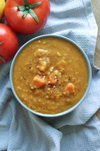 Vegan Gluten Free Red Lentil Pumpkin Soup