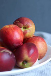 nectarines on a plate