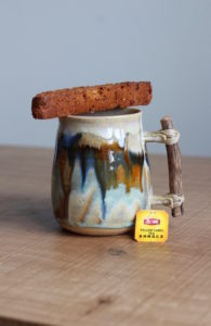 Tea and Vegan Pumpkin Chocolate Chip Biscotti