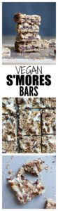 The SIMPLEST Vegan S'mores Bars! Made with rich dark chocolate and gooey vegan marshmallows, these rich and chewy Vegan S'mores Bars are perfect for a summer treat!