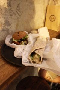 Vegan Food in Hong Kong Mana! Burger and Falafel Wrap