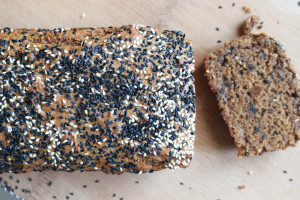 Black Sesame Tahini Vegan Banana Bread-10